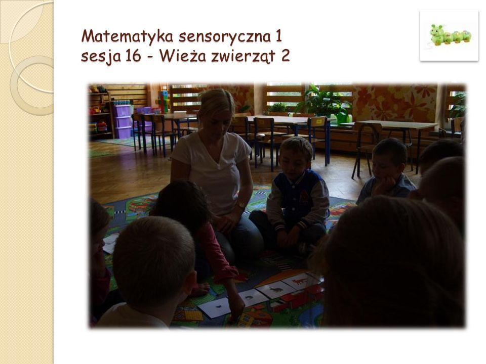 Matematyka sensoryczna 1 sesja 16 - Wieża zwierząt 2