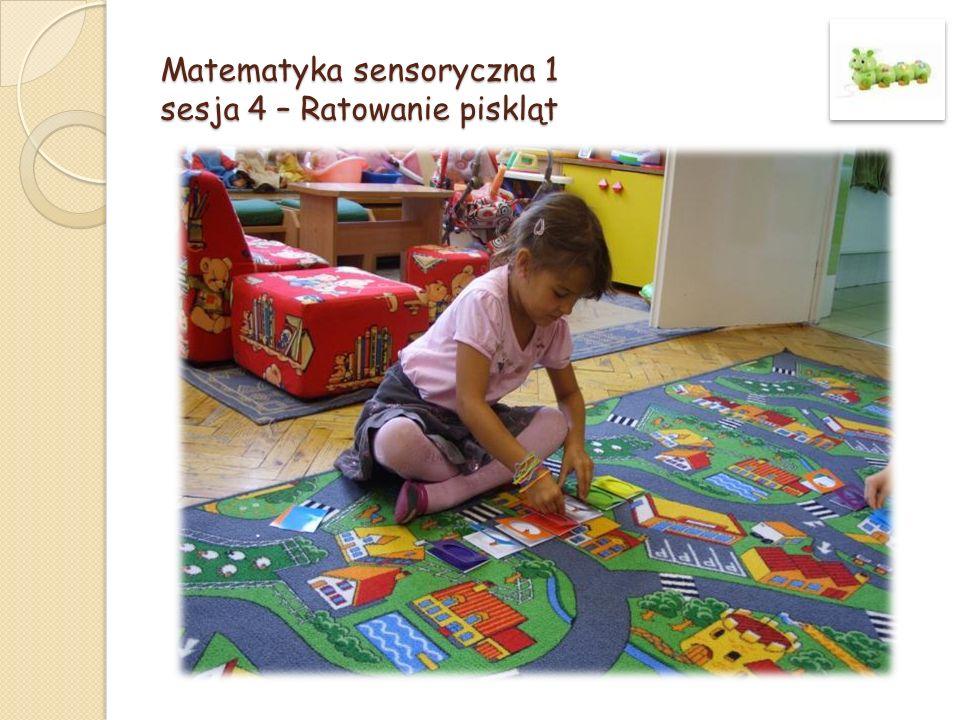 Matematyka sensoryczna 2 sesja 35 – Malarz i czerwony kwiatek