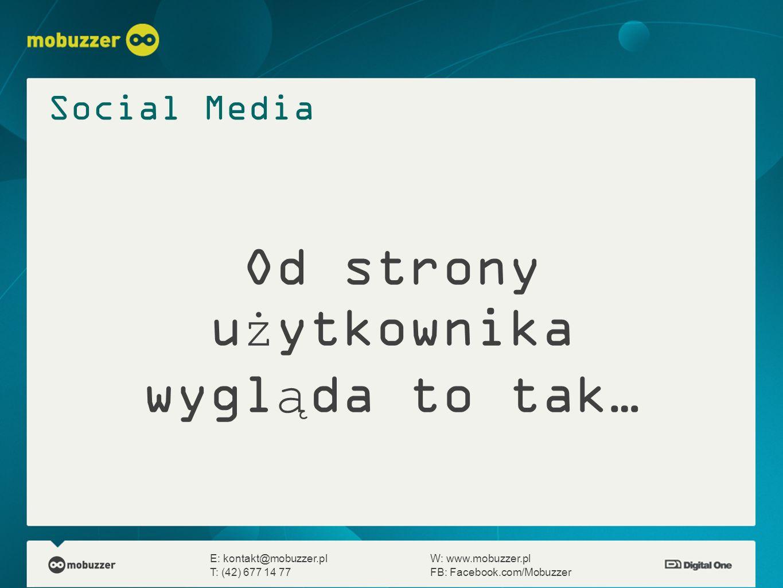 Od strony użytkownika wygląda to tak… E: kontakt@mobuzzer.plW: www.mobuzzer.pl T: (42) 677 14 77FB: Facebook.com/Mobuzzer Social Media