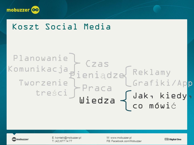 Czas Pieniądze Praca Wiedza E: kontakt@mobuzzer.plW: www.mobuzzer.pl T: (42) 677 14 77FB: Facebook.com/Mobuzzer Planowanie Komunikacja Reklamy Grafiki