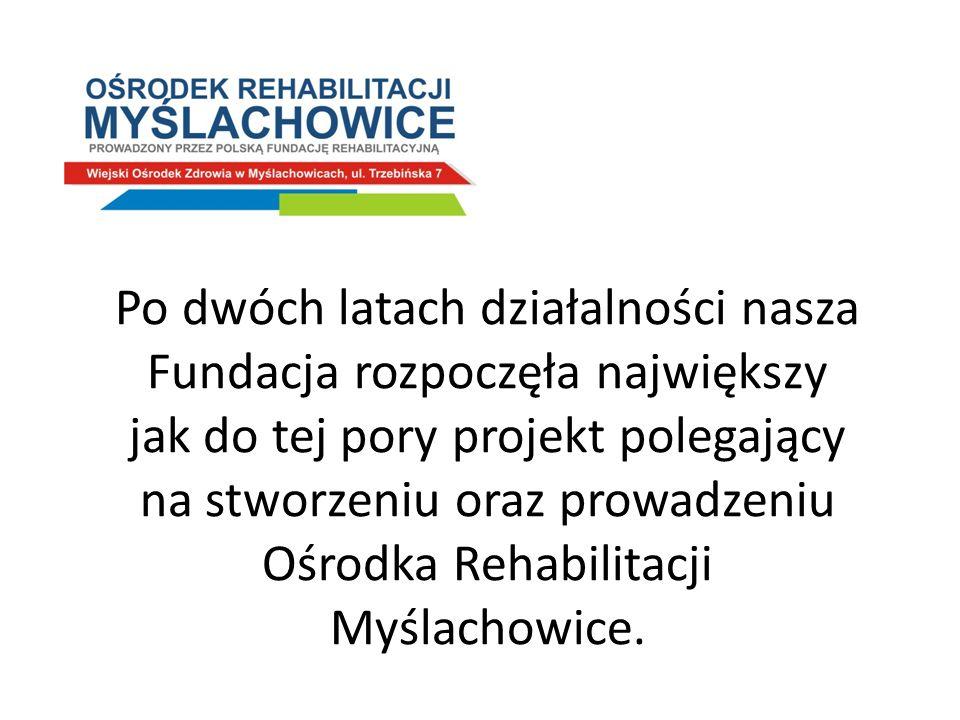 Po dwóch latach działalności nasza Fundacja rozpoczęła największy jak do tej pory projekt polegający na stworzeniu oraz prowadzeniu Ośrodka Rehabilitacji Myślachowice.