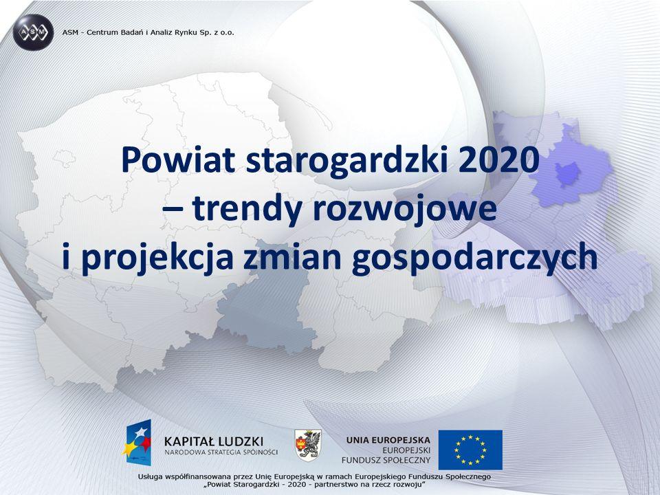 Powiat starogardzki 2020 – trendy rozwojowe i projekcja zmian gospodarczych