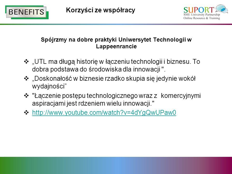 Korzyści ze współracy UTL ma długą historię w łączeniu technologii i biznesu. To dobra podstawa do środowiska dla innowacji