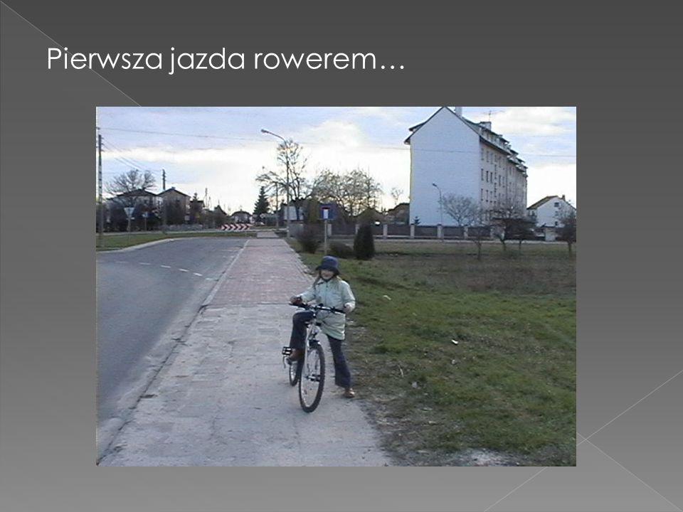 Pierwsza jazda rowerem…