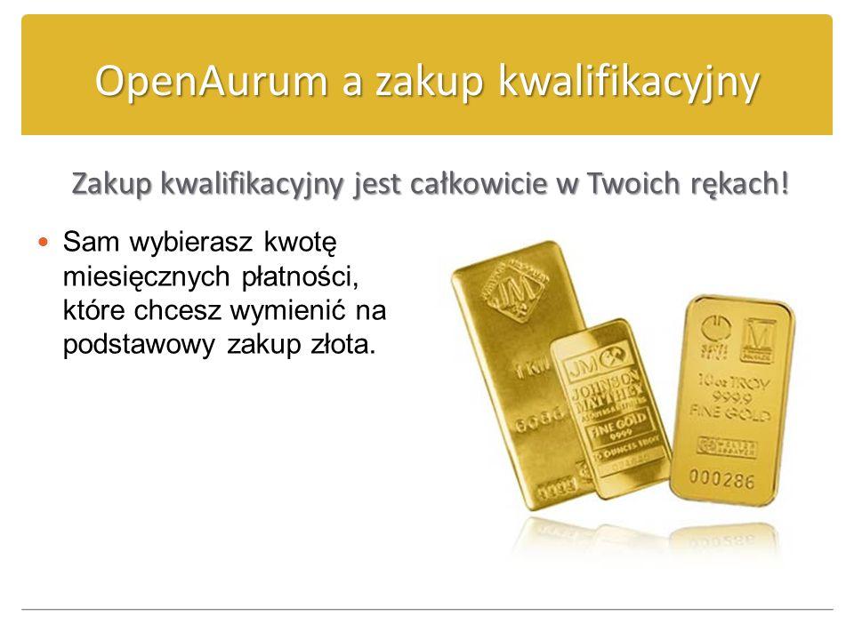 OpenAurum a zakup kwalifikacyjny Z ZZ Zakup kwalifikacyjny jest całkowicie w Twoich rękach! Sam wybierasz kwotę miesięcznych płatności, które chcesz w