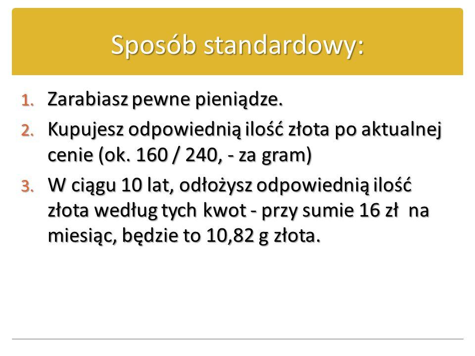 Sposób mądry: 1.T worzysz program oszczędności w wysokości 16, - PLN miesięcznie.