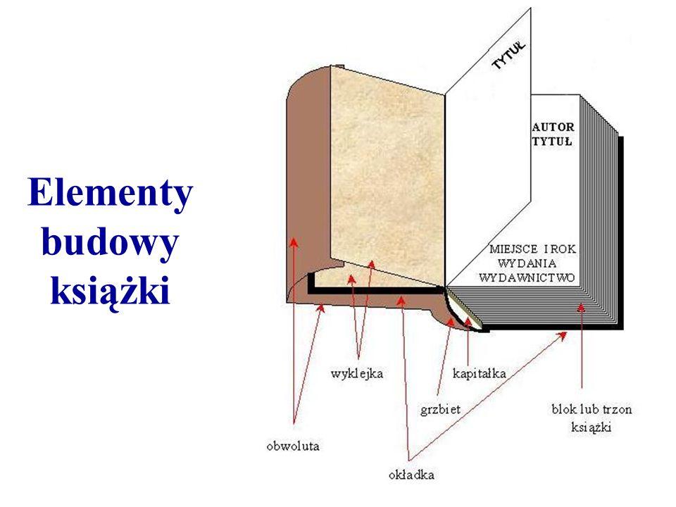 Elementy budowy książki