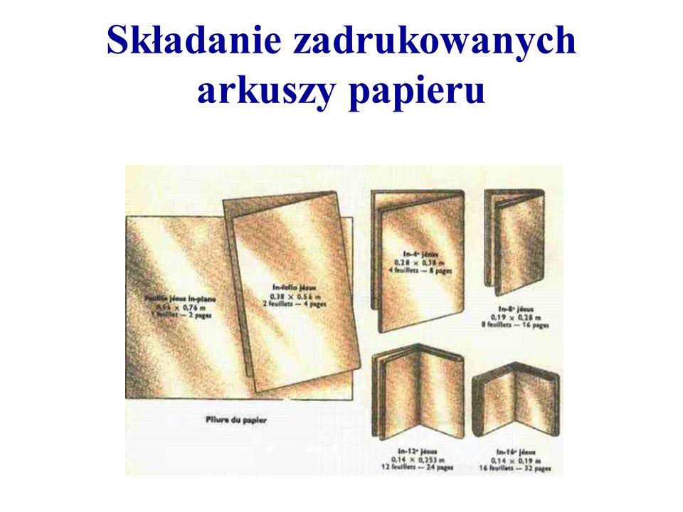 Składanie zadrukowanych arkuszy papieru