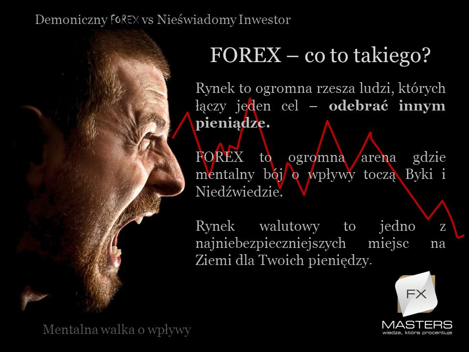 Demoniczny FOREX vs Nieświadomy Inwestor FOREX – co to takiego? Mentalna walka o wpływy Rynek to ogromna rzesza ludzi, których łączy jeden cel – odebr