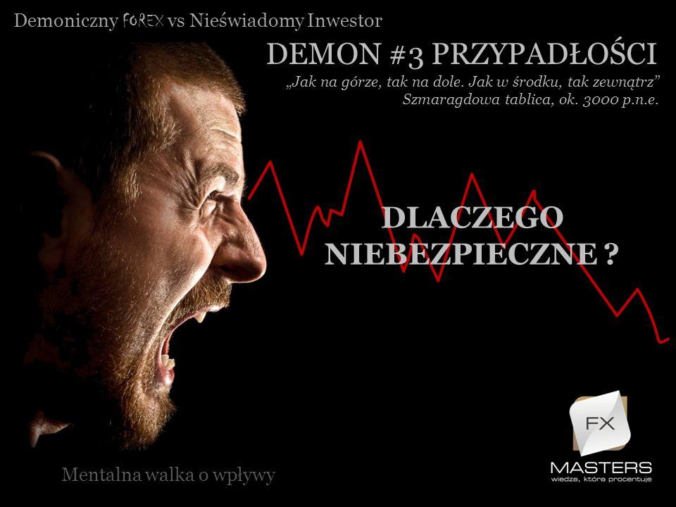Demoniczny FOREX vs Nieświadomy Inwestor DEMON #3 PRZYPADŁOŚCI Mentalna walka o wpływy Jak na górze, tak na dole. Jak w środku, tak zewnątrz Szmaragdo