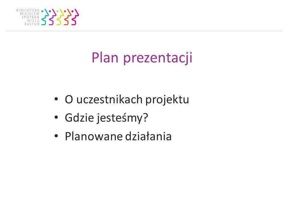 Plan prezentacji O uczestnikach projektu Gdzie jesteśmy? Planowane działania