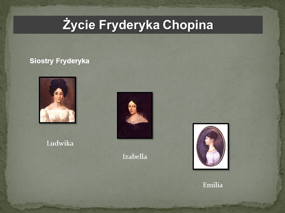 Życie Fryderyka Chopina W wieku sześciu lat chłopiec rozpoczął naukę gry na fortepianie u Wojciecha Żywnego.