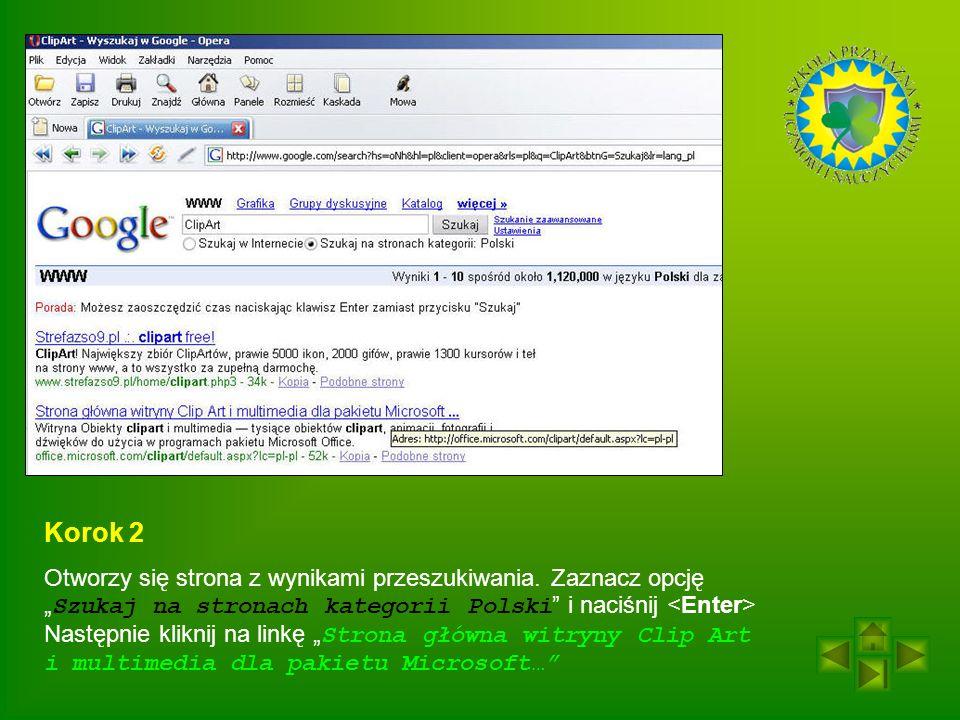 Korok 2 Otworzy się strona z wynikami przeszukiwania.