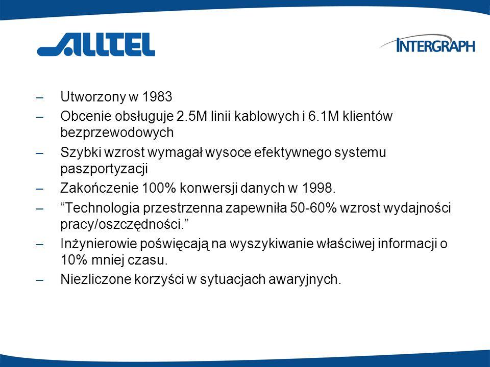–Utworzony w 1983 –Obcenie obsługuje 2.5M linii kablowych i 6.1M klientów bezprzewodowych –Szybki wzrost wymagał wysoce efektywnego systemu paszportyz