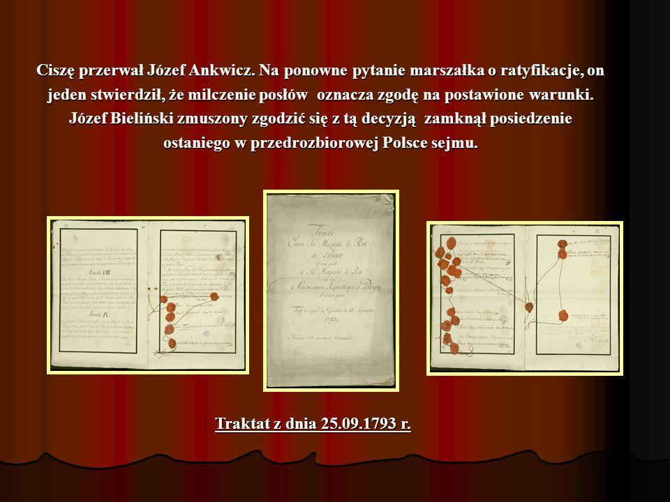Milczenie oznacza zgodę Rosjanie byli nieugięci. Kiedy polscy posłowie na żądanie głosowania za ratyfikacją Rosjan zaprotestowali milcząc, wtedy na sa