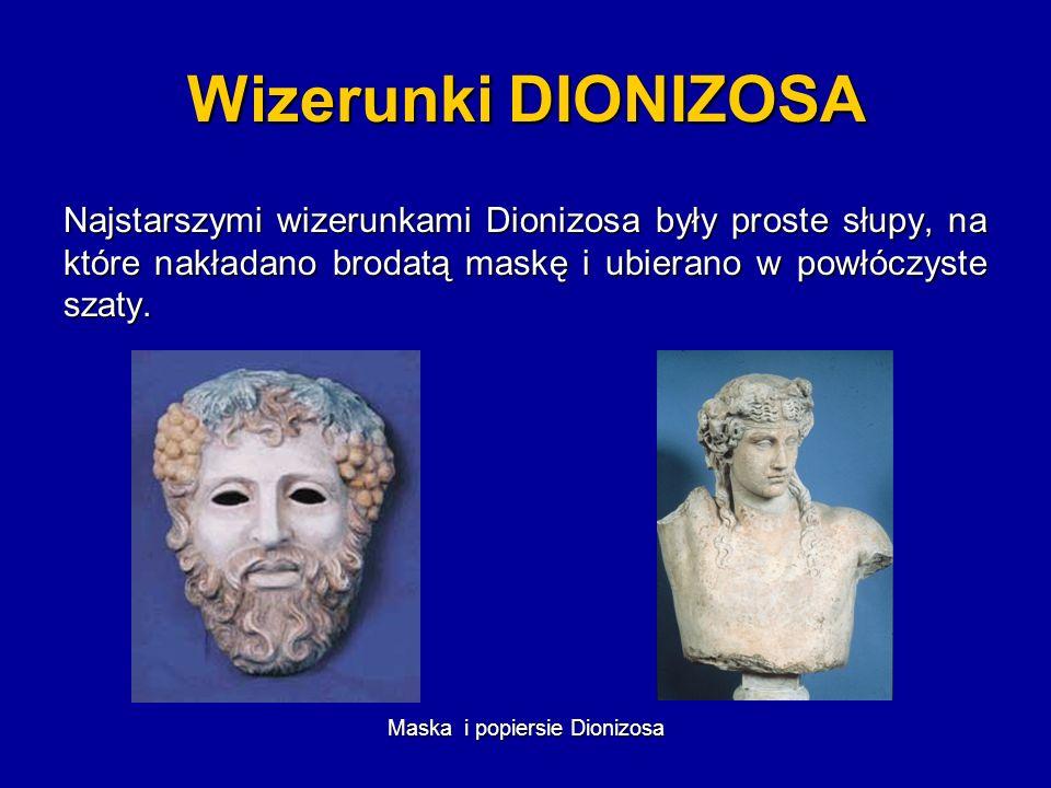 Geneza teatru antycznego wiąże się z kultem boga * Dionizosa AAAA * Zeusa * Hermesa BBBB CCCC