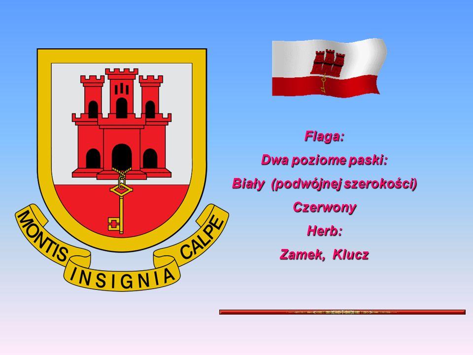 Flaga: Dwa poziome paski: Biały (podwójnej szerokości) Czerwony Herb: Zamek, Klucz