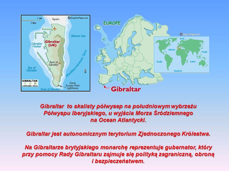 Gibraltar to skalisty półwysep na południowym wybrzeżu Półwyspu Iberyjskiego, u wyjścia Morza Śródziemnego na Ocean Atlantycki.