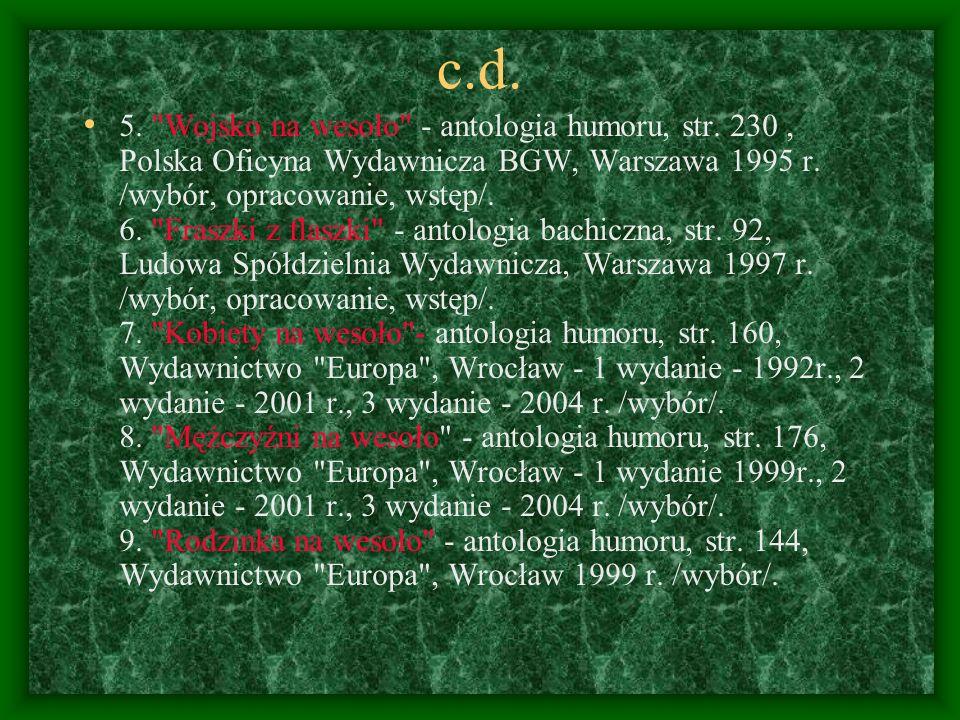 c.d.5. Wojsko na wesoło - antologia humoru, str.
