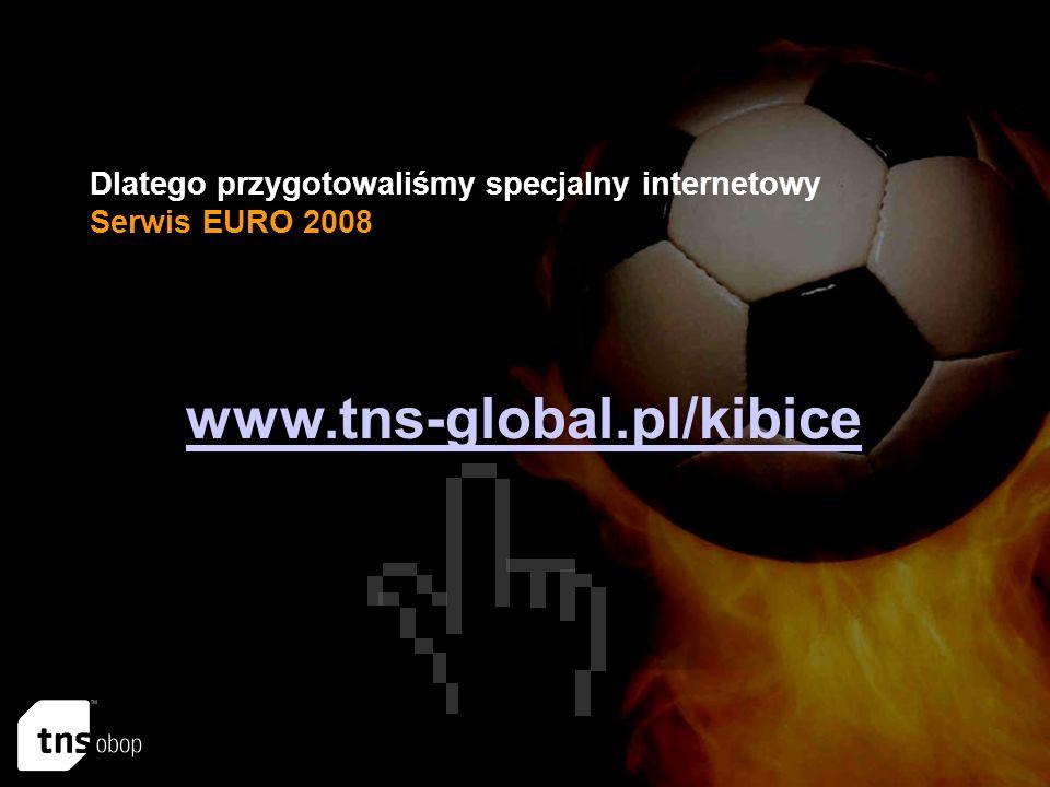 Dlatego przygotowaliśmy specjalny internetowy Serwis EURO 2008 www.tns-global.pl/kibice