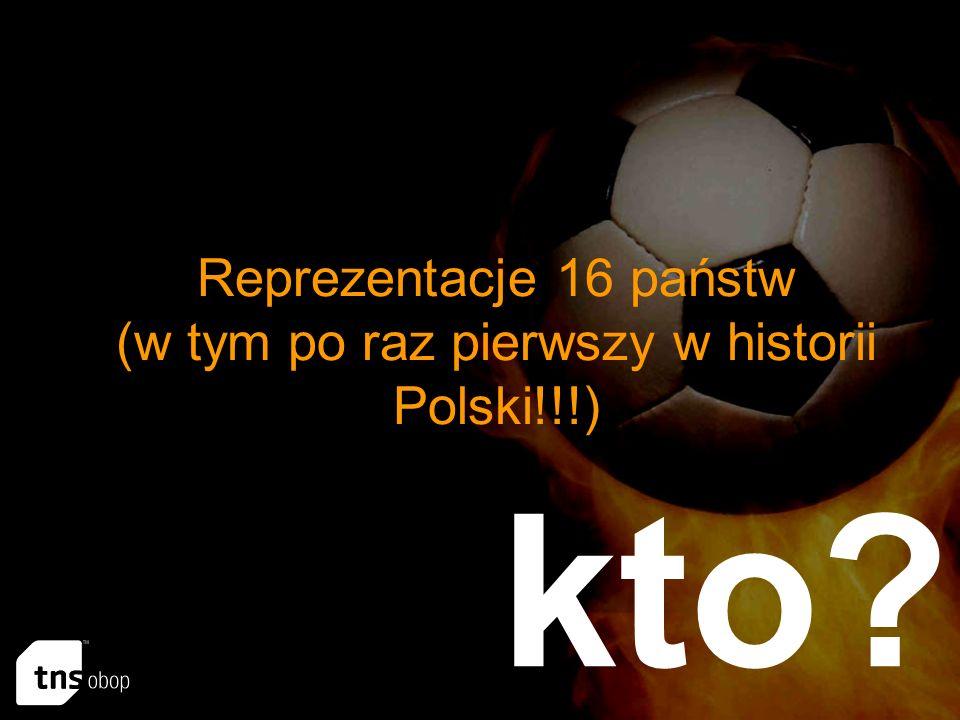 Reprezentacje 16 państw (w tym po raz pierwszy w historii Polski!!!) kto