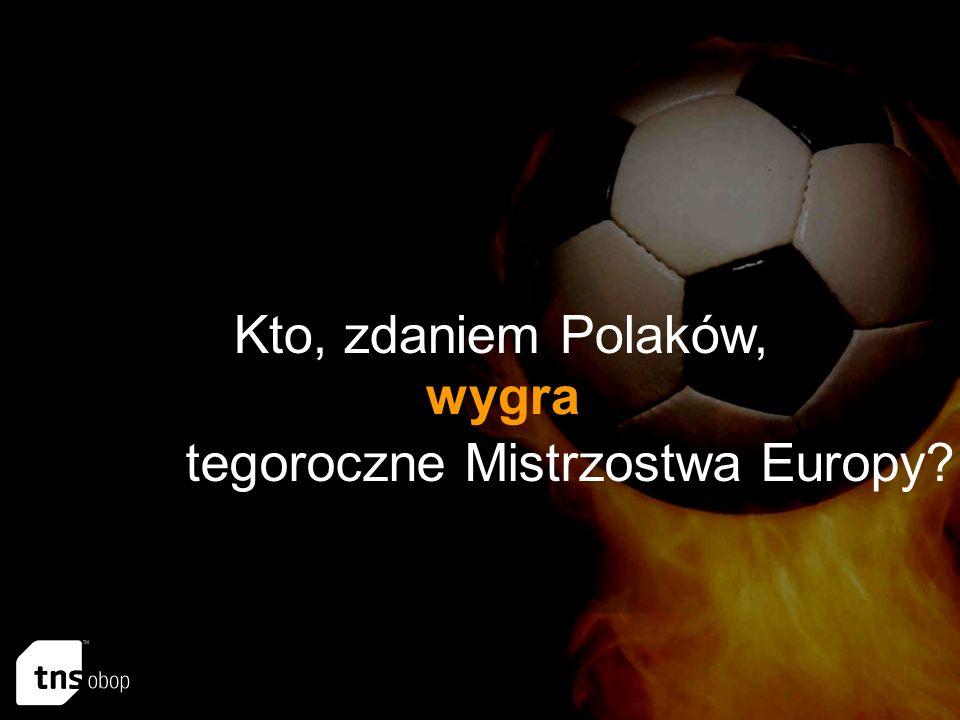 Kto, zdaniem Polaków, wygra tegoroczne Mistrzostwa Europy