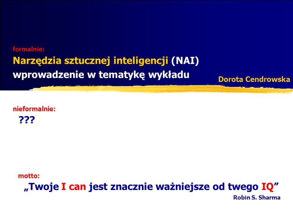 Plan wykładu Prolog gdzie jesteśmy.Inteligencja, czyli co.