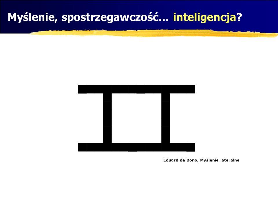 Myślenie, spostrzegawczość... inteligencja? Eduard de Bono, Myślenie lateralne