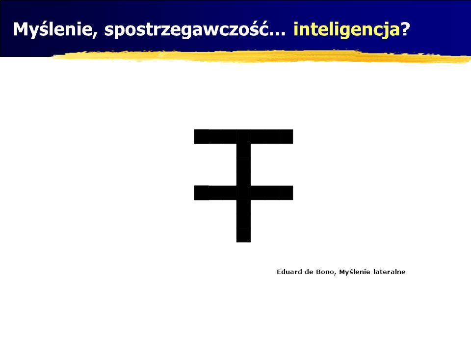 Eduard de Bono, Myślenie lateralne Myślenie, spostrzegawczość... inteligencja?