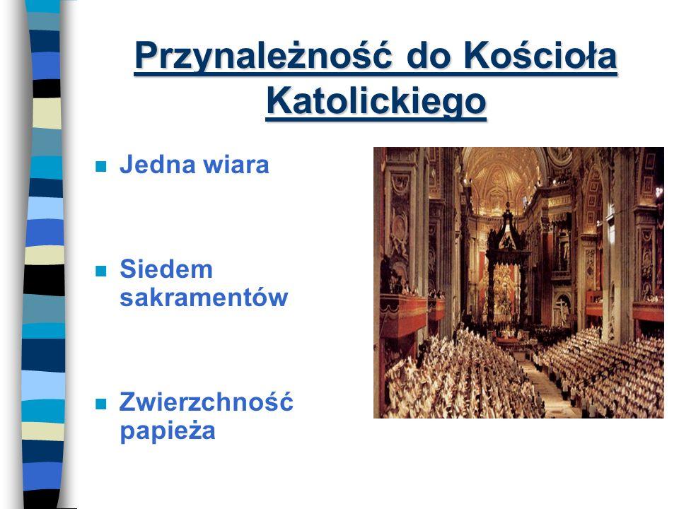 Kręgi przynależności do Kościoła wg. Soboru Watykańskiego II Katolicy Wyznania chrześcijańskie Judaizm Religie monoteistyczne Religie politeistyczne