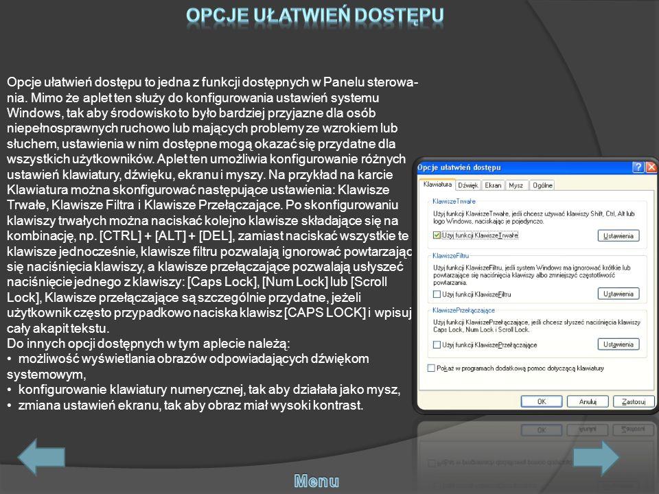 Funkcja Dodaj/Usuń jest jedną z częściej używanych funkcji Panelu sterowania.