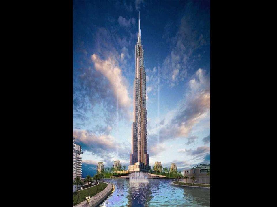 Burj Dubai Budowa zaczęta w 2005 ma być gotowa jeszcze w tym roku. Wysoka na 800 metrów ma być najwyższą budowlą na świecie. Będzie 40 % wyższa od naj
