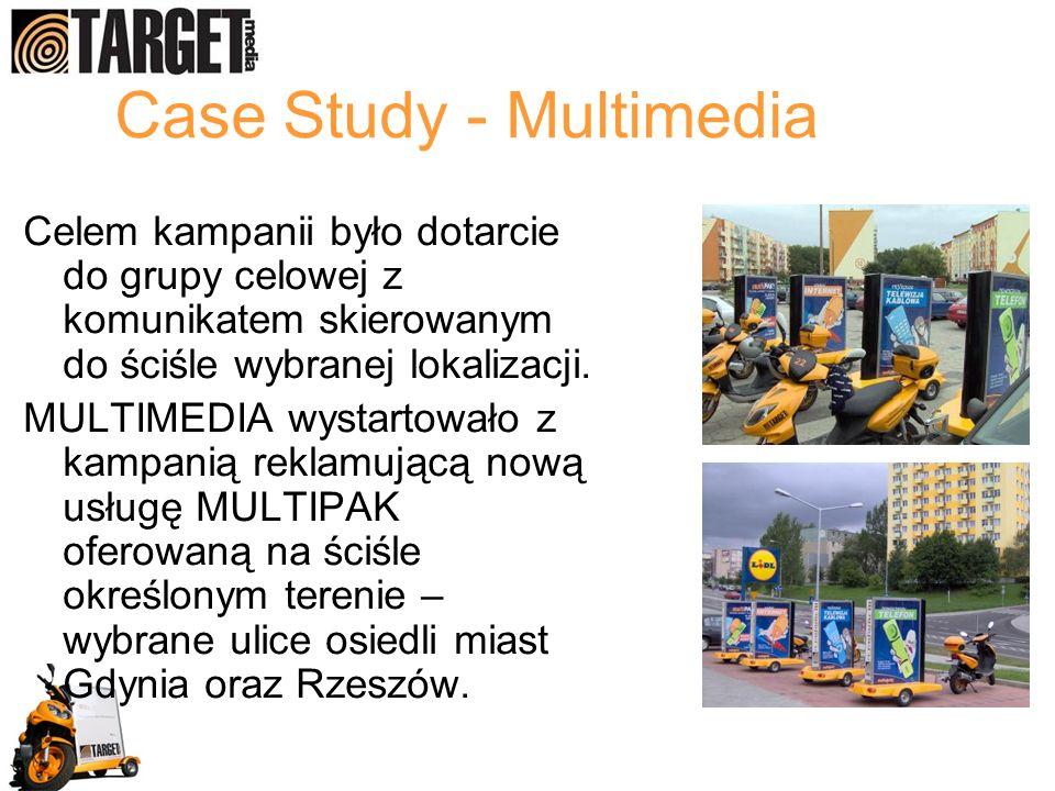 Case Study - Multimedia Celem kampanii było dotarcie do grupy celowej z komunikatem skierowanym do ściśle wybranej lokalizacji. MULTIMEDIA wystartował