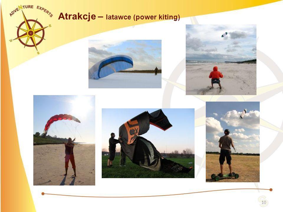 10 Atrakcje – latawce (power kiting)