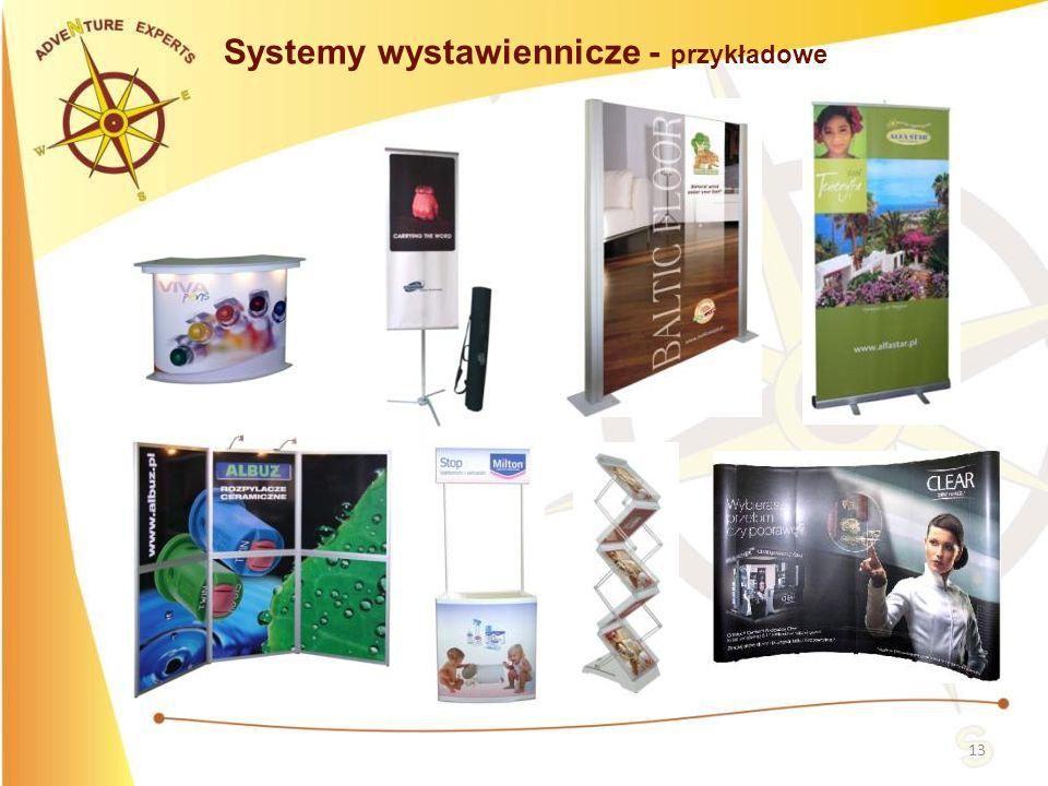 13 Systemy wystawiennicze - przykładowe