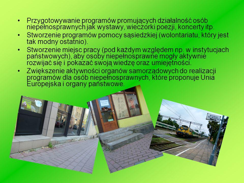 Przygotowywanie programów promujących działalność osób niepełnosprawnych jak wystawy, wieczorki poezji, koncerty itp.