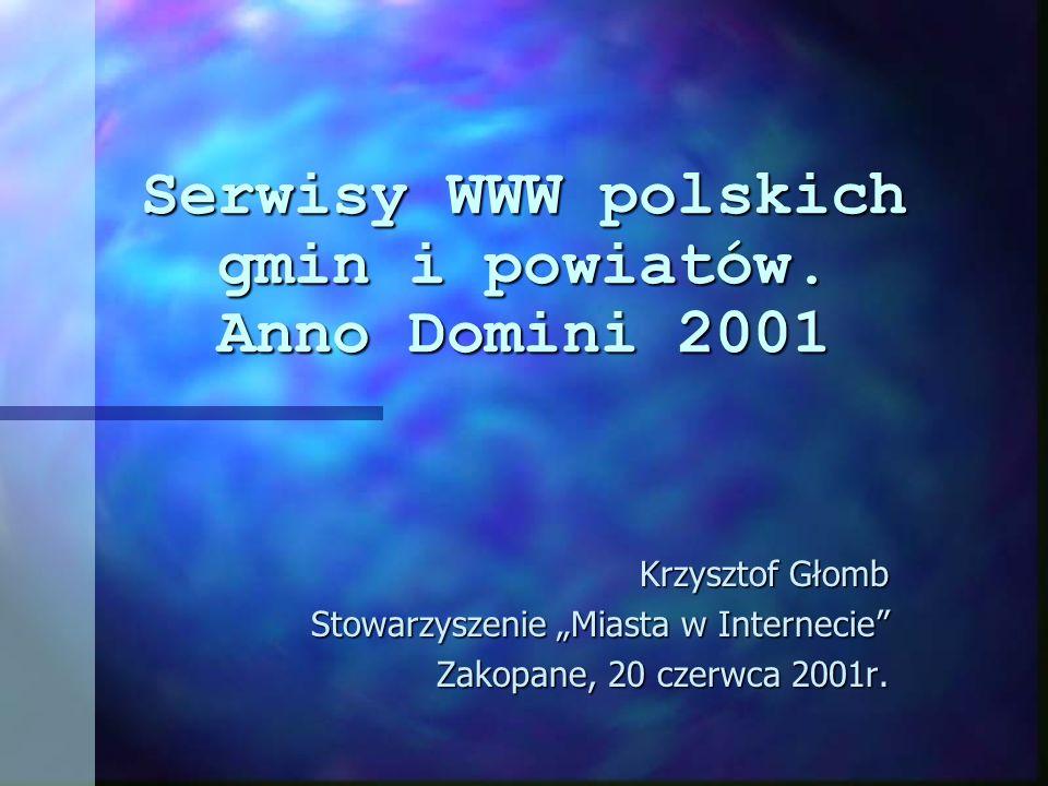 Serwisy WWW polskich gmin i powiatów.