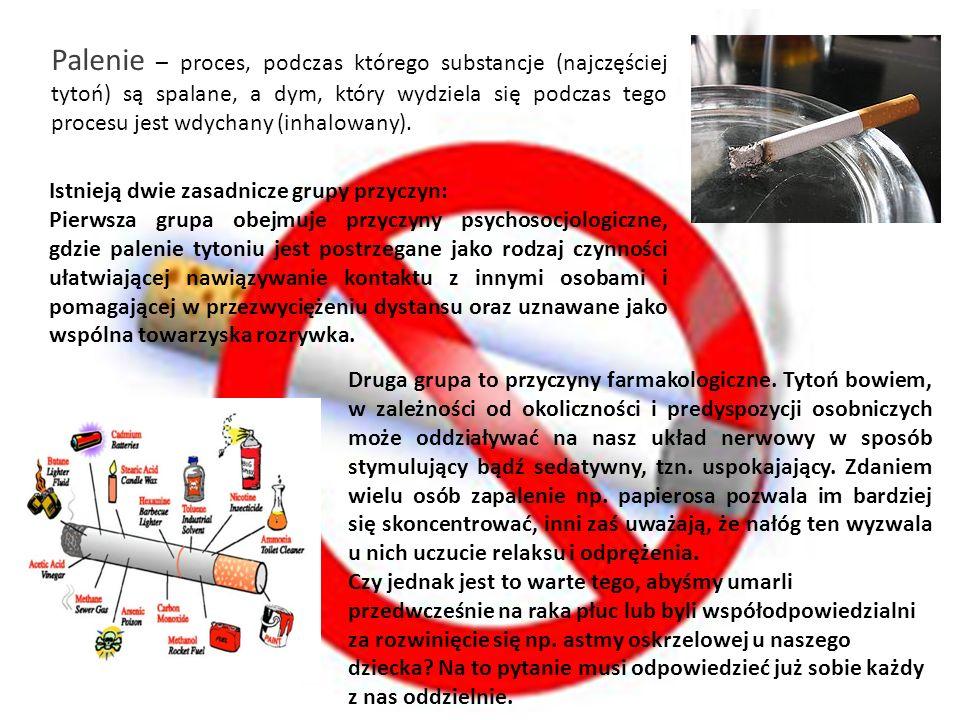 Palenie – proces, podczas którego substancje (najczęściej tytoń) są spalane, a dym, który wydziela się podczas tego procesu jest wdychany (inhalowany)
