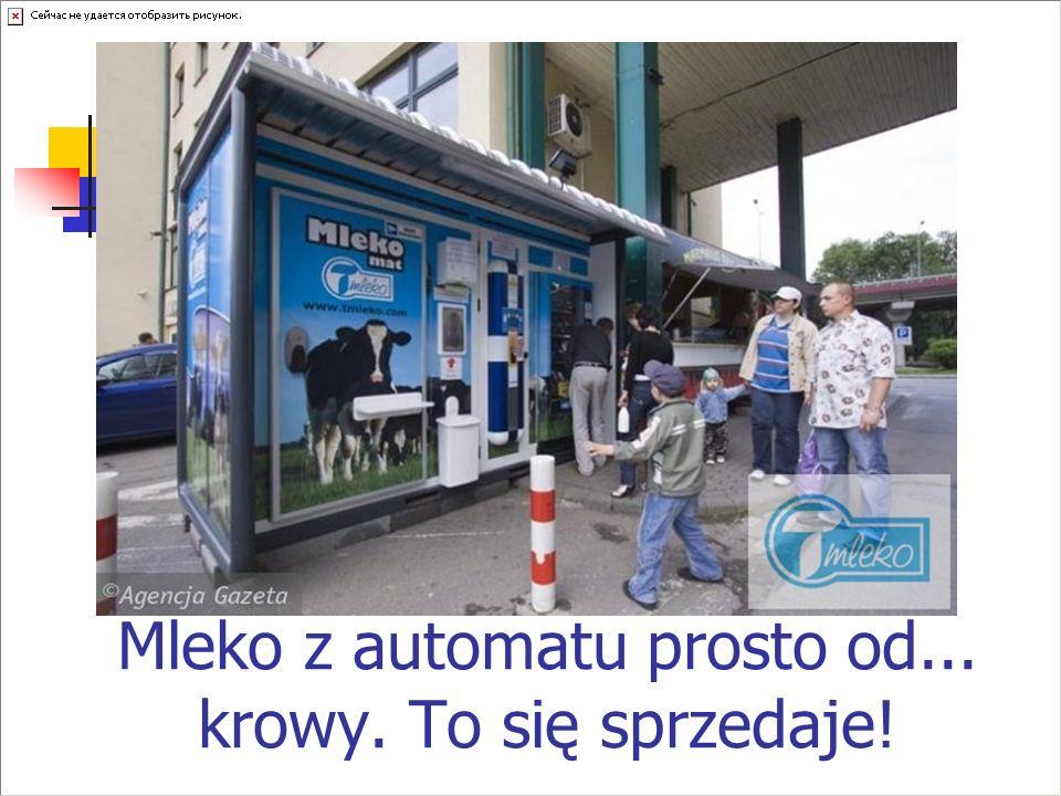 Mleko z automatu prosto od... krowy. To się sprzedaje!