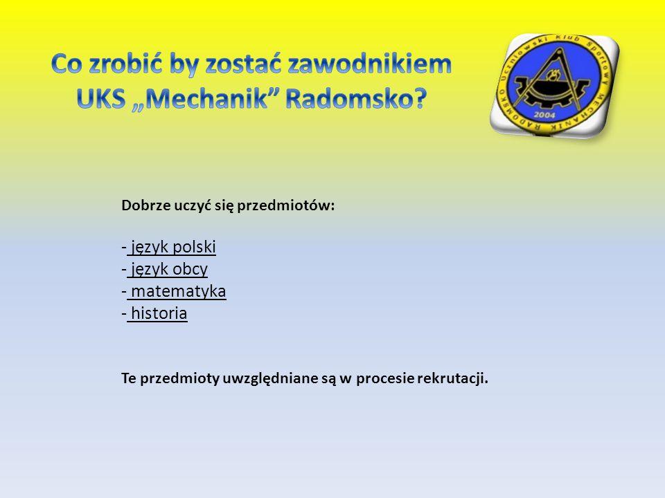 Dobrze uczyć się przedmiotów: - język polski ęzyk obcy - matematyka - historia Te przedmioty uwzględniane są w procesie rekrutacji.