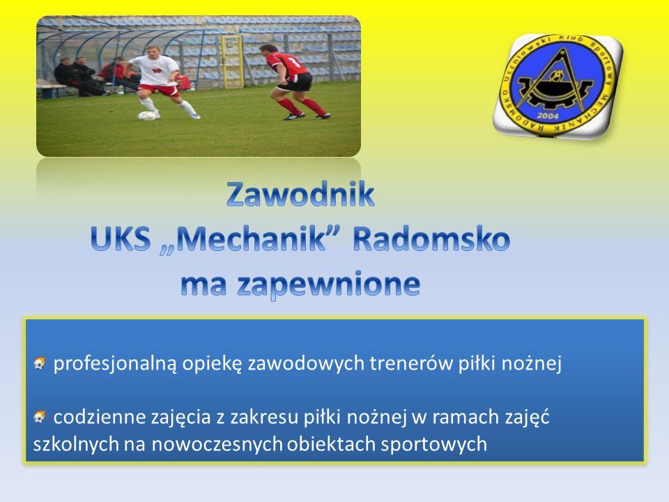 profesjonalną opiekę zawodowych trenerów piłki nożnej codzienne zajęcia z zakresu piłki nożnej w ramach zajęć szkolnych na nowoczesnych obiektach spor