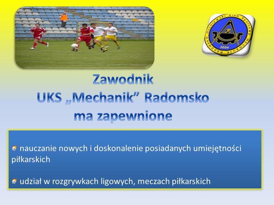 nauczanie nowych i doskonalenie posiadanych umiejętności piłkarskich udział w rozgrywkach ligowych, meczach piłkarskich nauczanie nowych i doskonaleni
