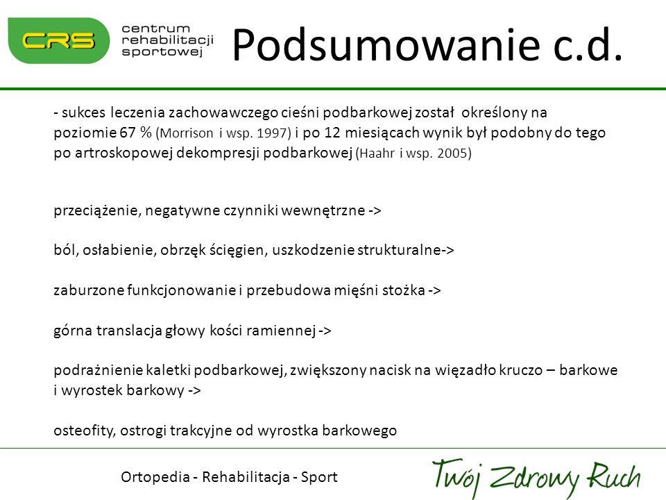 Ortopedia - Rehabilitacja - Sport Rehabilitacja czy dekompresja podbarkowa.