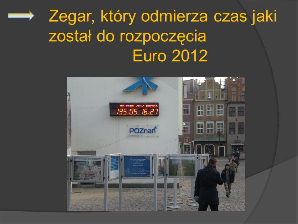 Zegar, który odmierza czas jaki został do rozpoczęcia Euro 2012