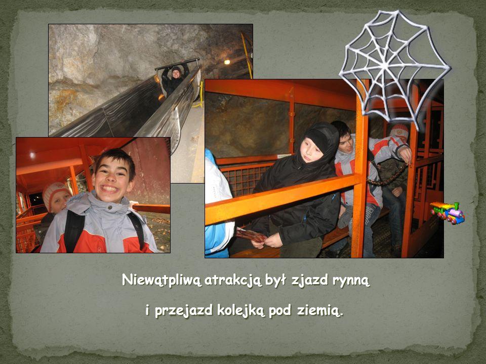 Podczas zwiedzania kopalni towarzyszył nam dobry duszek, który czuwał nad naszym bezpieczeństwem.