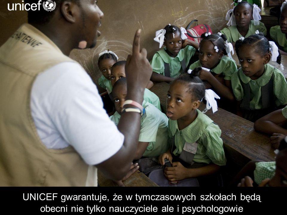 UNICEF gwarantuje, że w tymczasowych szkołach będą obecni nie tylko nauczyciele ale i psychologowie