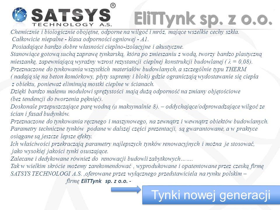Tynki nowej generacji 13 EliTTynk sp. z o.o.
