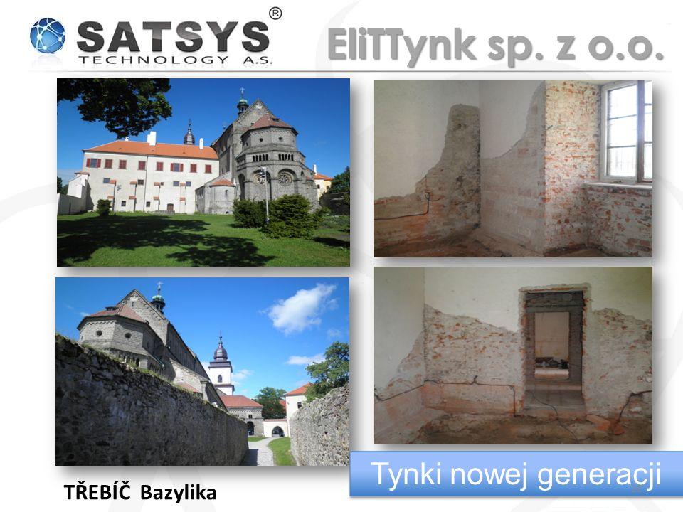 TŘEBÍČ Bazylika Tynki nowej generacji 20 EliTTynk sp. z o.o.