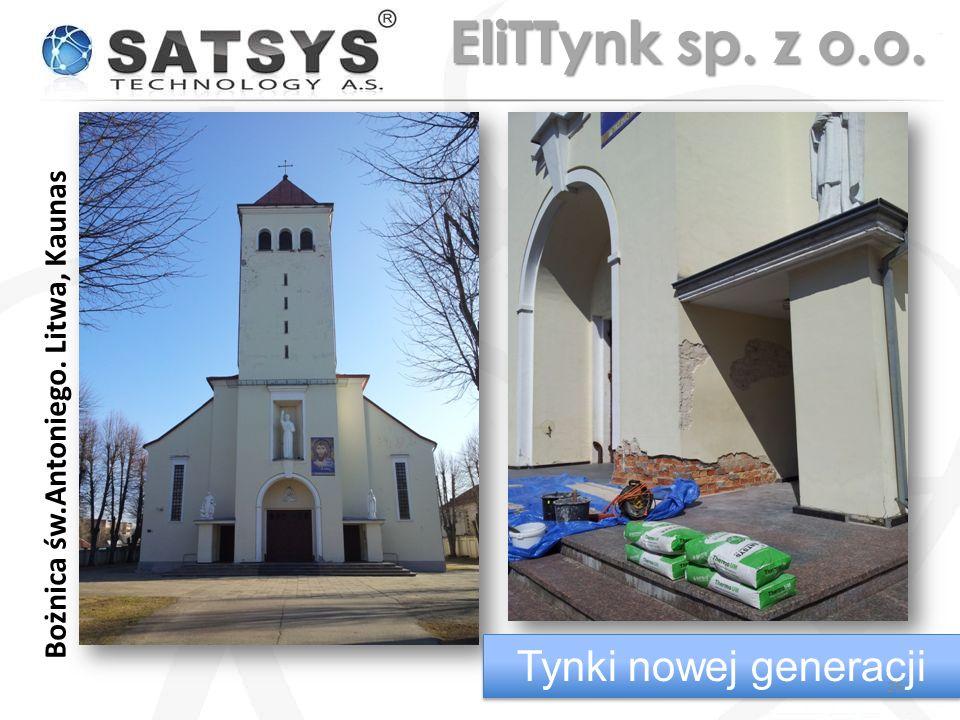 Bożnica św.Antoniego. Litwa, Kaunas Tynki nowej generacji 26 EliTTynk sp. z o.o.