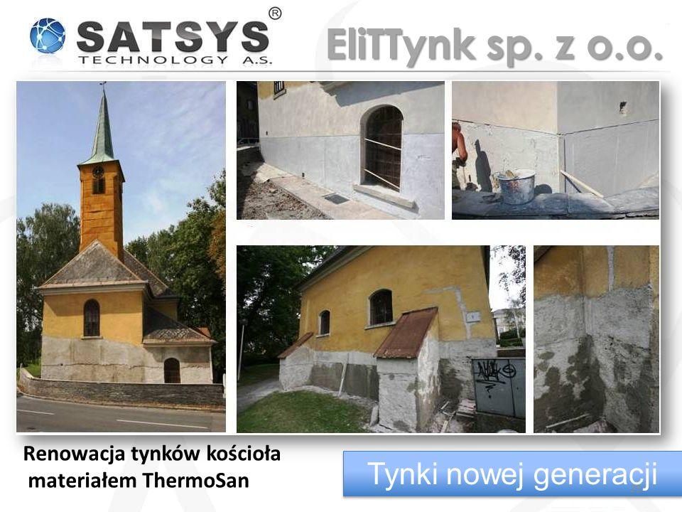 Renowacja tynków kościoła materiałem ThermoSan Tynki nowej generacji 29 EliTTynk sp. z o.o.